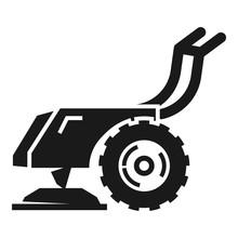 Walk-behind Tractor Icon. Simp...