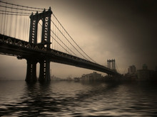 New York. Manhattan Bridge. Retro View