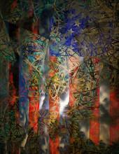 Surreal Painting. USA National Flag