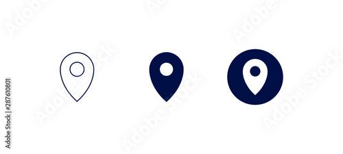 Obraz Symboles de localisation  - fototapety do salonu