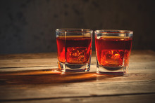 Two Glasses Of Old Whiskey