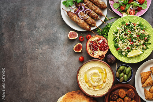 Arabic and Middle Eastern dinner table Wallpaper Mural