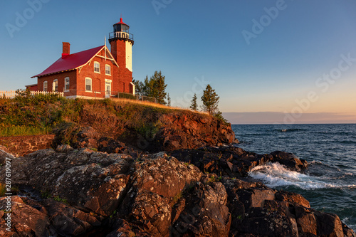 Photo Stands United States Dawn at Eagle Harbor Light in Michigans Upper Peninsula