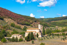 Abbey Of Sant'Antimo In Autumn...