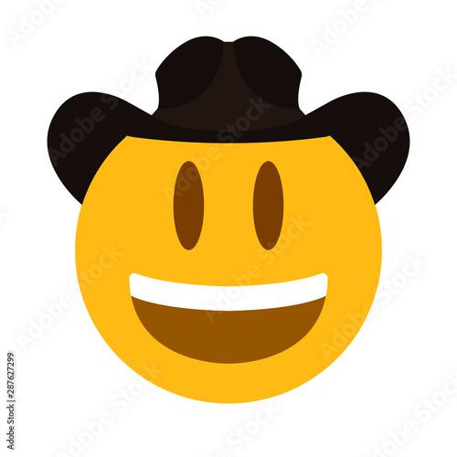 Photo emoji face yyehaw vector cowboy