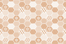 Vector Honeycomb Pattern In Pa...