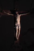 Old Medieval Crucifix In Itali...