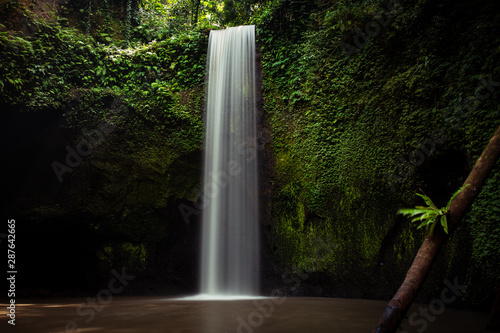 Door stickers Forest river waterfall in the forest