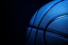 Closeup Detail Of Blue Basketb...
