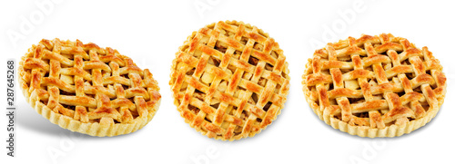 Photo Apple pie on a white isolated background