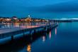 Anleger am Züricher See zur Blauen Stunde