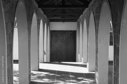 arquitetura, arco, corredor, construção, igreja, coluna Fototapet