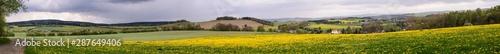 Fototapeta Panoramafotos vom Kammweg zwischen Ansprung und Sorgau mit Blick auf Ansprung, Zöblitz, Marienberg,