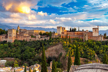 Granada. The Fortress And Palace Complex Alhambra.