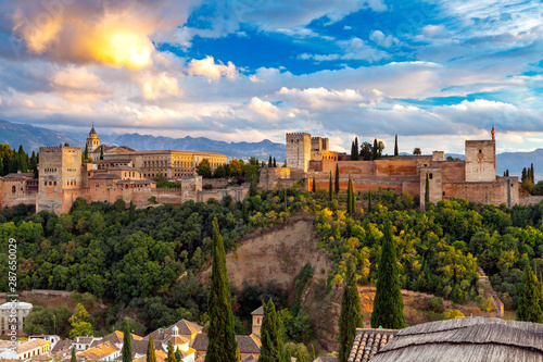Fotografiet  Granada. The fortress and palace complex Alhambra.