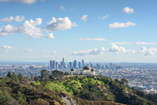 Griffith Observatory And Los Angeles At Sunny Day