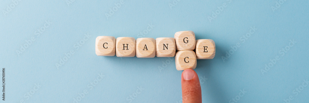 Fototapeta Changing the word Change in to Chance