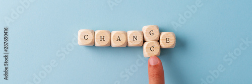 Fotografie, Obraz Changing the word Change in to Chance