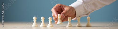 Photo  Business leadership and recruitment concept