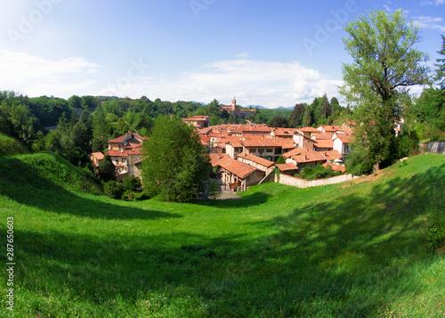 Castiglione Olona - Italy, 15th century Renaissance village in the green of the Olona valley