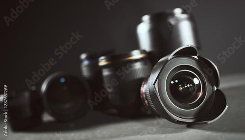 Obraz Professional set of lens for reflex camera - fototapety do salonu