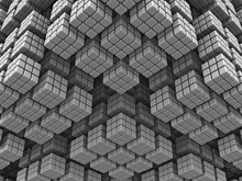 Abstract 3D Fractal Geometric Background