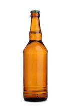Brown Glass Bottle Of Beer Wit...