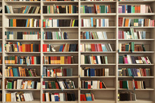 View Of Shelves With Books In ...