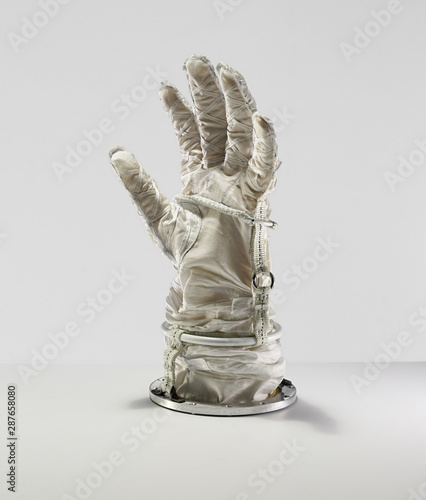 Astronaut gloves, space suit gloves Wallpaper Mural