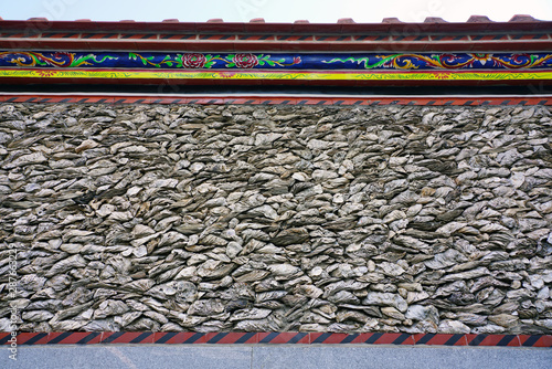 View of a traditional cultural relic house made of oyster shells (hekecuo) in Xu Canvas Print