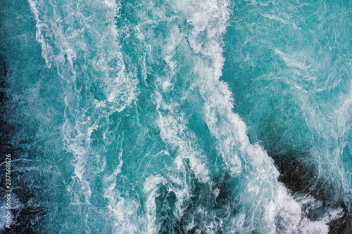 bruarfoss-waterfall-in-iceland-as-an-abstract-of-the-blue-water-and-whitewater-from-above