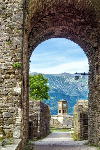 Clock Tower in Gjirokaster Castle, Gjirokaster, Albania Wallpaper Mural
