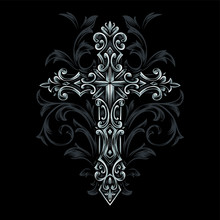 Cross Gothic Syle Vector Ornam...