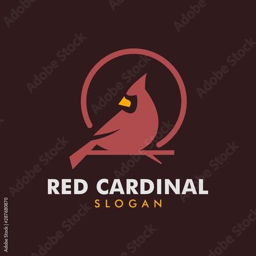 Fotografía red cardinal logo - vector illustration of design on a light background
