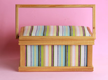 Sewing Box On Colorful Background