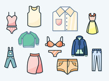 Set Of Underwear, Shirt, Dress...