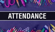 Attendance Text Written On Edu...