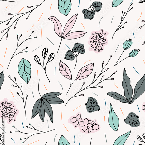 floral-vector-seamless-pattern-with-flowers-leaves-and-berries-beautiful-hand-drawn-flowers-in-light-pastel-colors-in-vintage-style