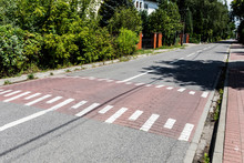 Speed Bump For Autumn. Speed Limit. Safety On The Road