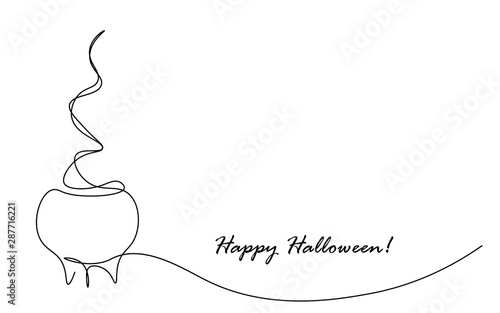 Fototapety, obrazy: Halloween card with pumpkin, vector illustration