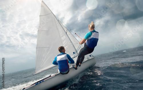 Sailing yacht race. Yachting. Sailing regatta.