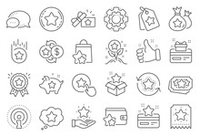Loyalty Program Line Icons. Bo...