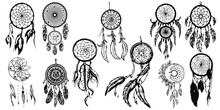 Dreamcatcher. Hand Drawn Collection. Vector