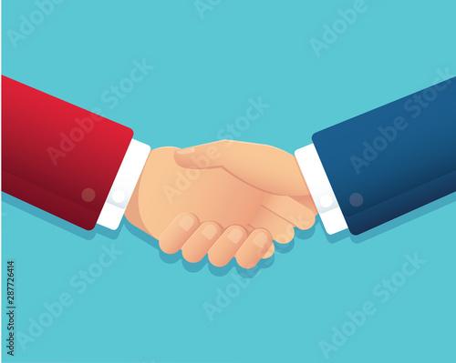 businessman handshake partnership concept vector illustration EPS10 Wallpaper Mural