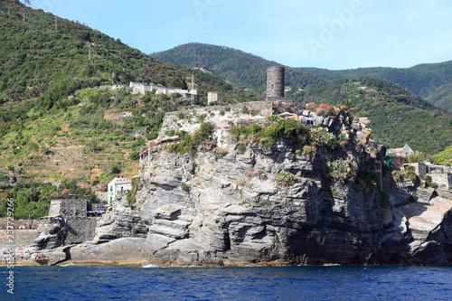 Cinque Terre from the sea: Vernazza Canvas Print