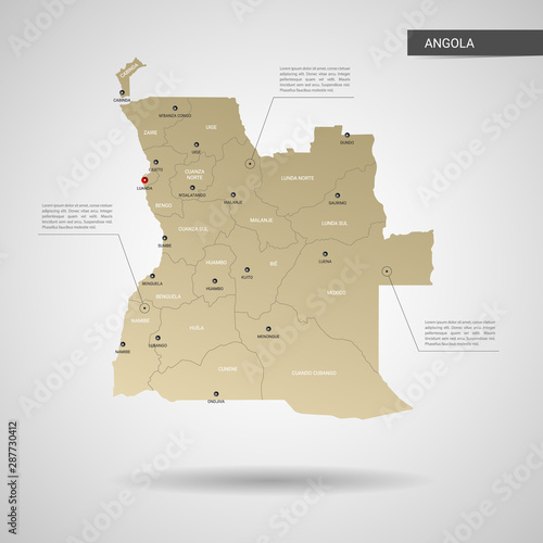 Photo Stylized vector Angola map