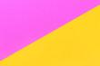 Leinwanddruck Bild - pink yellow background with diagonal, creative idea