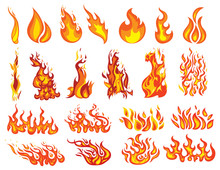 Set Of Fires. Collection Of Fi...