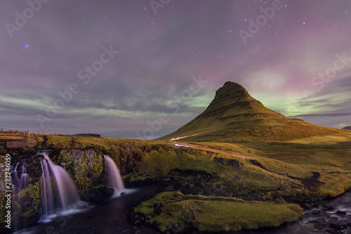 Canvas Prints Northern lights Northern Lights in Kirkjufell Mountain in Iceland