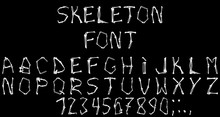 Special Font Complex Execution In The Form Of Human Skeleton Bones On Halloween.